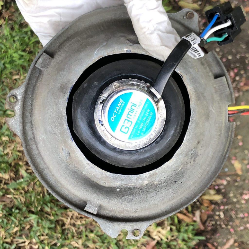 Bucket rear showing clearance